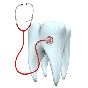 tooth emergency with stethoscope